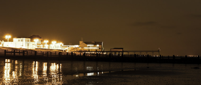 Bognor Regis Pier At Night - By Colin Clark